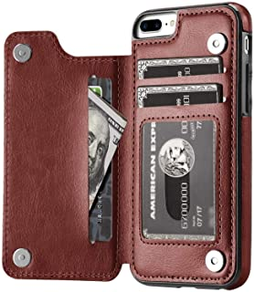 iPhone 7 Plus/iPhone 8 Plus Wallet Case Credit Card Holder, XRPow Slim Premium Leather Cover Stand Magnetic Closure Flip Card Wallet Stand Case for iPhone 7 Plus/ 8 Plus 5.5