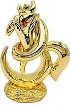 "Ganesh Statue 3.3"" Hindu Elephant God, Gold Plated Resin Statue"