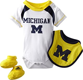NCAA by Outerstuff NCAA Michigan Wolverines Infant Bib and Bootie Set