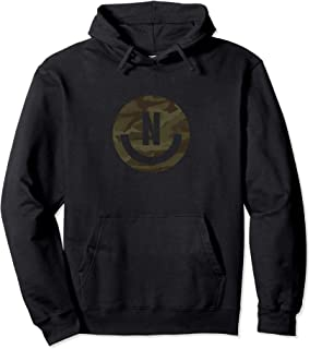 Camo Smiley Face Pullover Hoodie