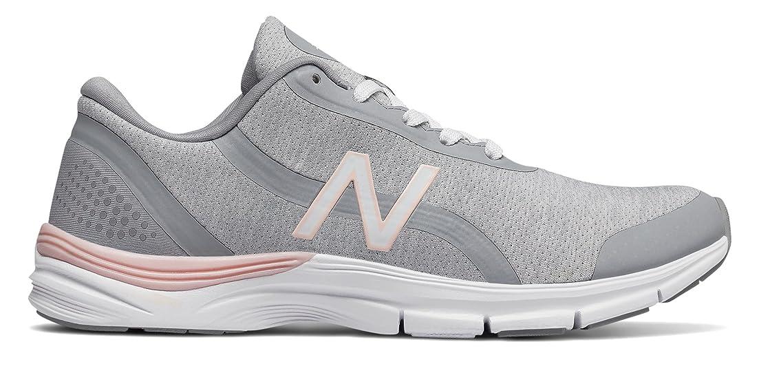 スラム街グループ柔らかい足(ニューバランス) New Balance 靴?シューズ レディーストレーニング 711v3 Mesh Trainer White with Sunrise Glo ホワイト グロー US 8.5 (25.5cm)