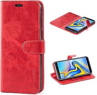 Mulbess Cover per Samsung Galaxy J6 Plus, Custodia Pelle con Magnetica per Samsung Galaxy J6 Plus / J6+ [Vinatge Case], Vi...
