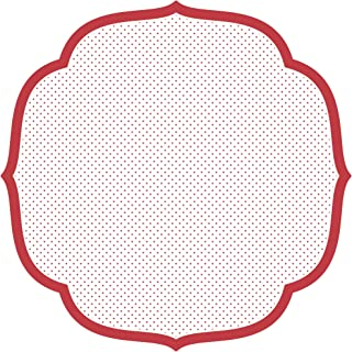 Hester & Cook Paper Placemat, Pad of 12 (Die-Cut Red Swiss Dot Medallion)
