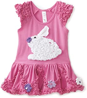 Baby Girls' Ruffle Bunny Drop Waist Dress with Daisies