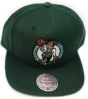 Mitchell & Ness Boston Celtics Wool Solid Green Adjustable Snapback Hat