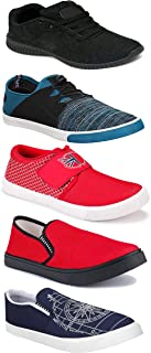 WORLD WEAR FOOTWEAR Sports Running Shoes/Casual/Sneakers/Loafers Shoes for Men Multicolor (Combo-(5)-1219-1221-1140-461-1014)