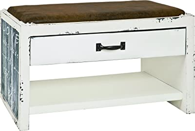 Haku-Möbel Bank, Kunstleder, Vintage, 72 x 38 x 42