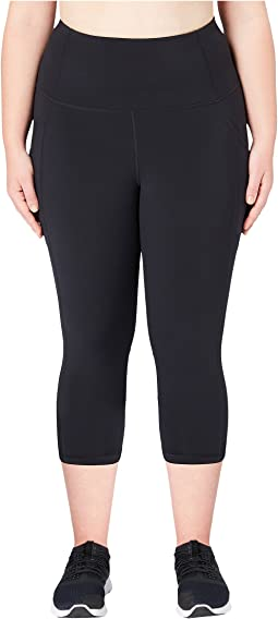 Onstride Plus Size High-Waisted Run Capri Leggings