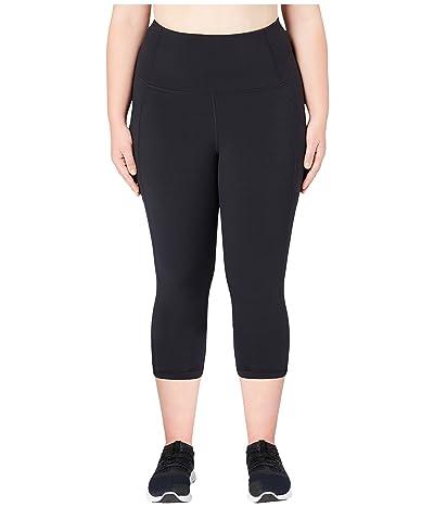 Core 10 Onstride Plus Size High-Waisted Run Capri Leggings (Black) Women