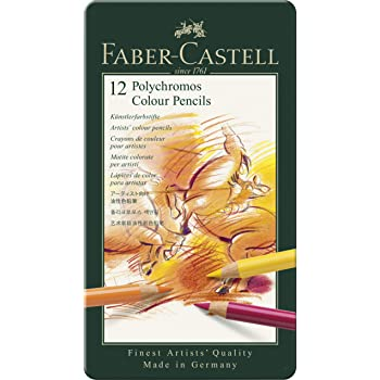 Faber Castell F110012 Polychromos Colour Pencils Tin Of 12