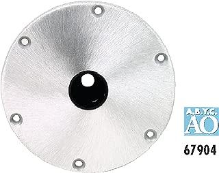 Attwood 67904 Snap-Lock 1.77 Base Plate - 9 Round Aluminum