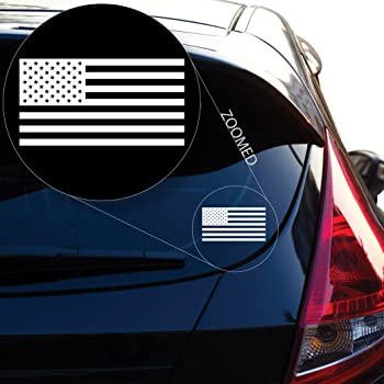 """Yoonek Graphics American Flag United States Decal Sticker for Car Window, Laptop, Motorcycle, Walls, Mirror and More. # 559 (3"""" x 5.7"""", White)"""