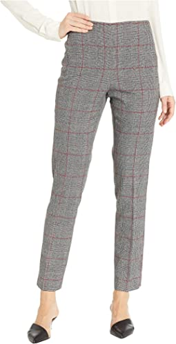 Menswear Plaid Straight Leg Pants