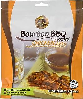Golden Nest Naturally Seasoned Chicken Jerky, no MSG or Artificial Ingredients, Bourbon BBQ, 71 Grams