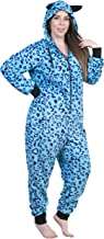 Totally Pink Women's Warm and Cozy Plush Adult Onesies for Women One Piece Novelty Pajamas