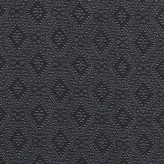 E565 Blue Diamond Jacquard Woven Contemporary Upholstery Grade Fabric by The Yard