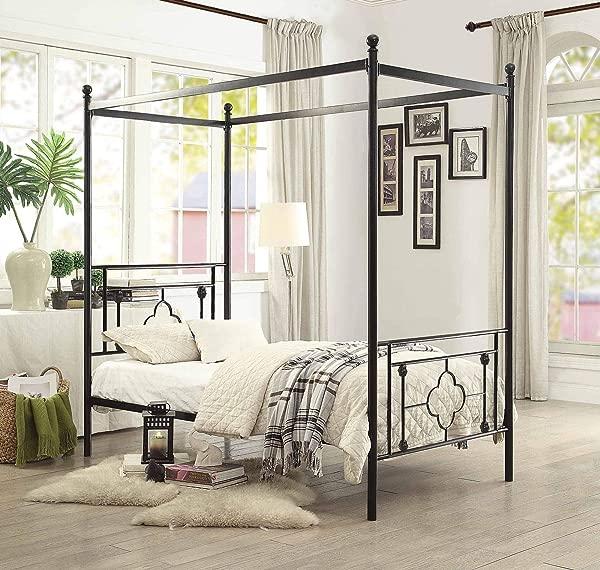 Homelegance Hosta Metal Canopy Bed Twin Black