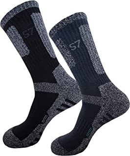 SEOULSTORY7 Men's DryCool Cushion Outdoor Sports Hiking/Performance Crew Socks