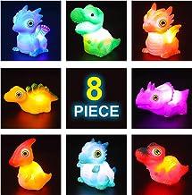 JOYIN 8 Packs Light-Up Bath Toys, Bathtub Dinosaur Toys for Baby Toddler Kids in Birthday Easter Christmas, Pool Toy for B...