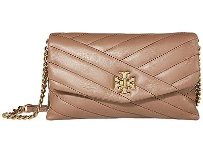 Tory Burch Kira Chevron Chain Wallet (Classic Taupe) Wallet Handbags