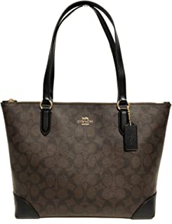 Coach Women's Outline Signature Zip Tote