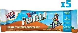 CLIF KID ZBAR - Protein Granola Bars - Peanut Butter Chocolate Flavor (1.27 Ounce Gluten Free Bars, Kids Snacks, 5 count)