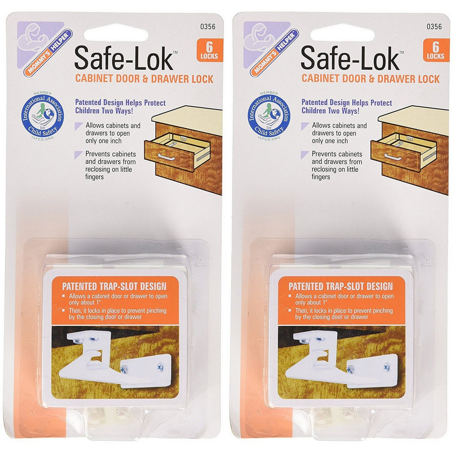 Mommy's Helper Safe-Lok for Drawers and Cabinets (Set of 2 packs of 6!)