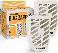Indoor Plug-in Bug Zapper - 3.5 W / 110v with UV Light - Power Portable Home Electric Insect Trap - Odorless Noiseless - Removes Flies Mosquitos Gnats Moth and Bugs - 2 Pack - White