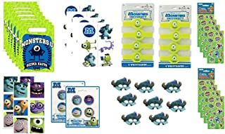 Monsters University Birthday Party Favor Bundle Set includes Loot Bags, Stickers, Tattoos, Pencils, Erasers - 48 Pieces