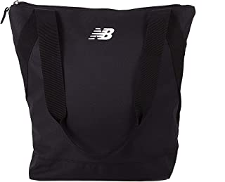 New Balance Small Zip Tote Bag for Women | Great Gym, Work, or Overnight Bag, Black, One Size