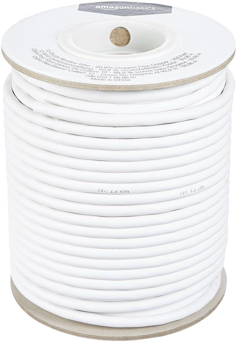 AmazonBasics 12-Gauge Audio Speaker Wire Cable - 99.9% Oxygen Free Copper, 200-Foot