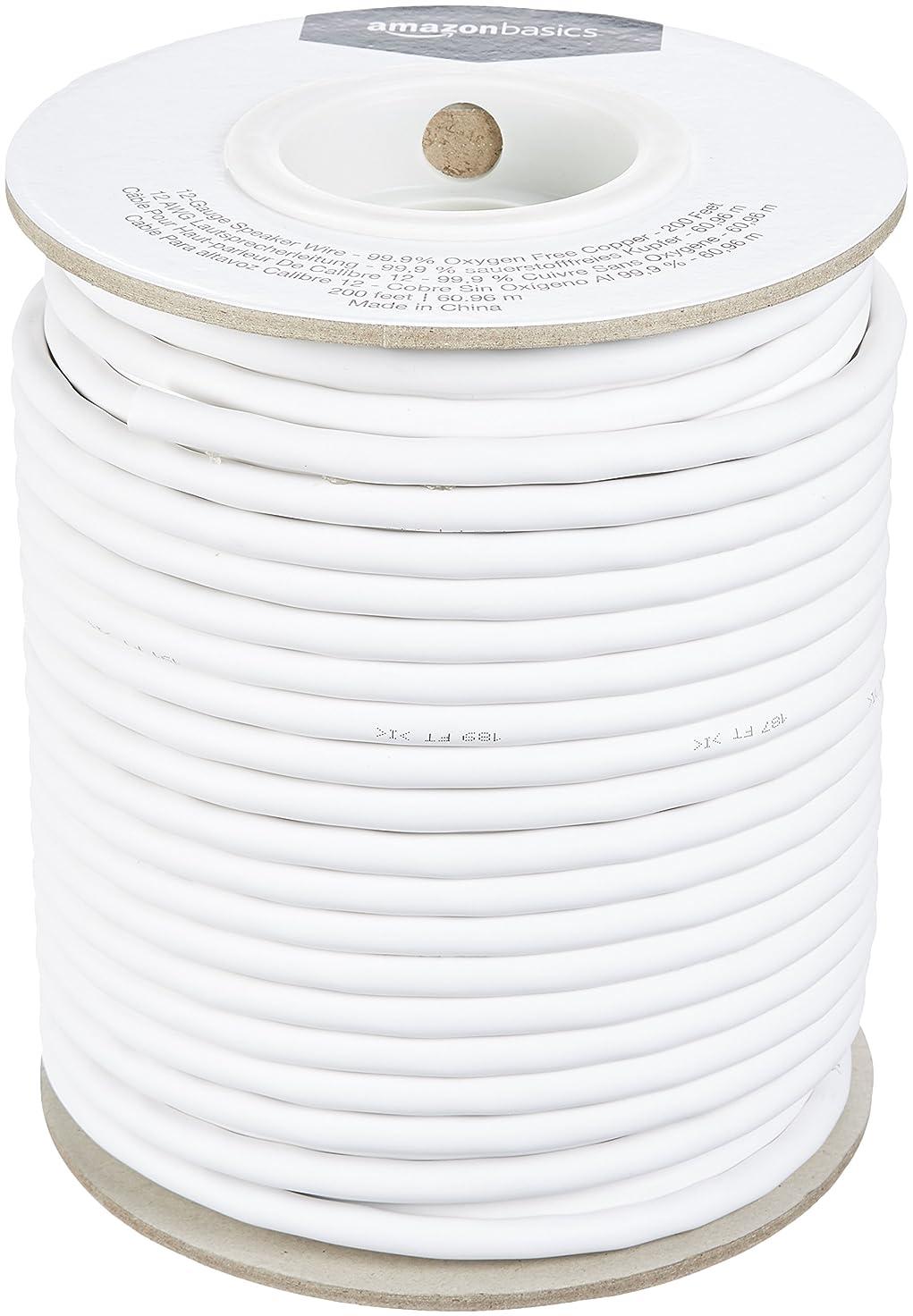 トランペット比類のない放棄するAmazonベーシック スピーカーワイヤー 12ゲージ 61.0m (99.9% 無酸素銅)