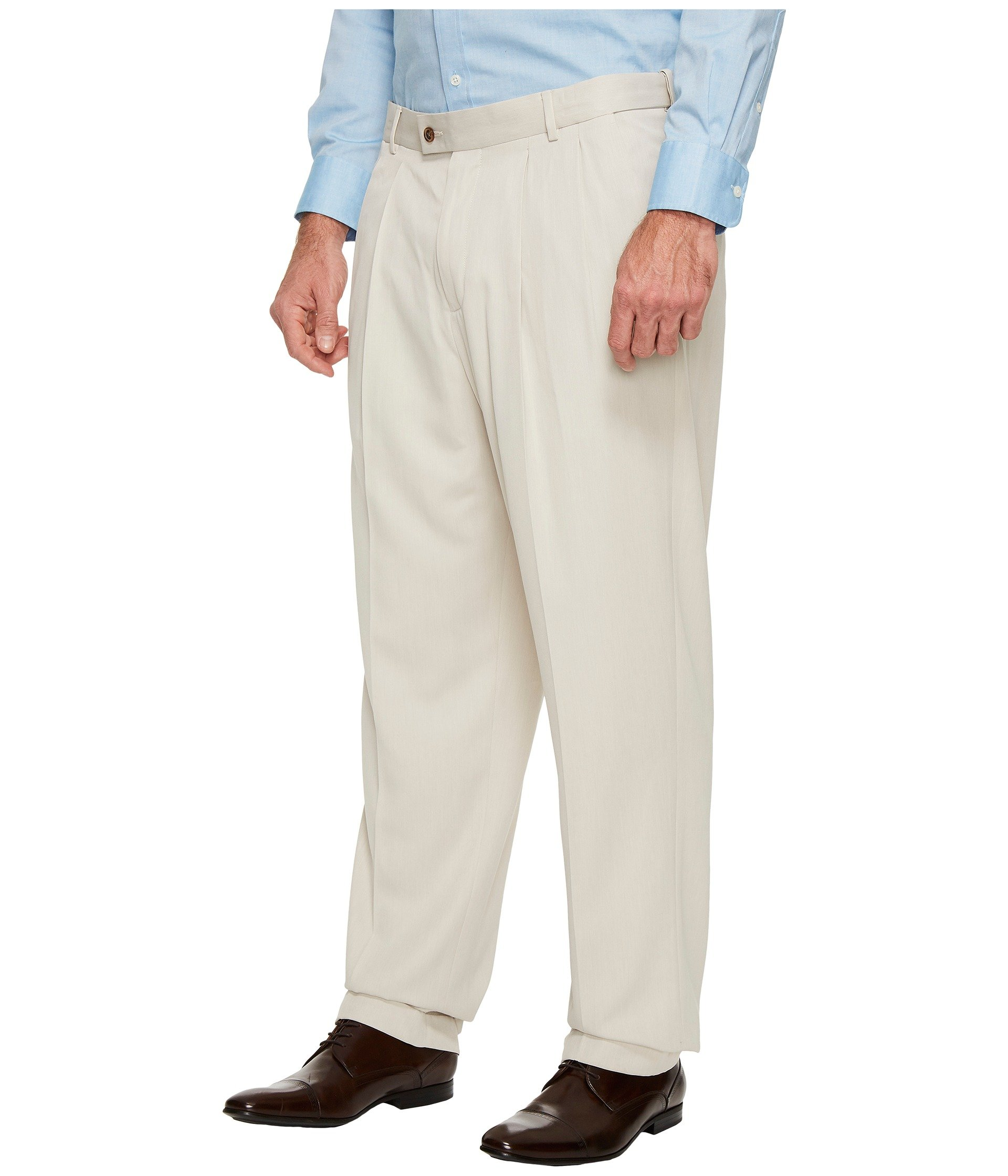 Dress Big And Portfolio Melange Double Pleat Sand Ellis Pants Tall Perry PEf8q8