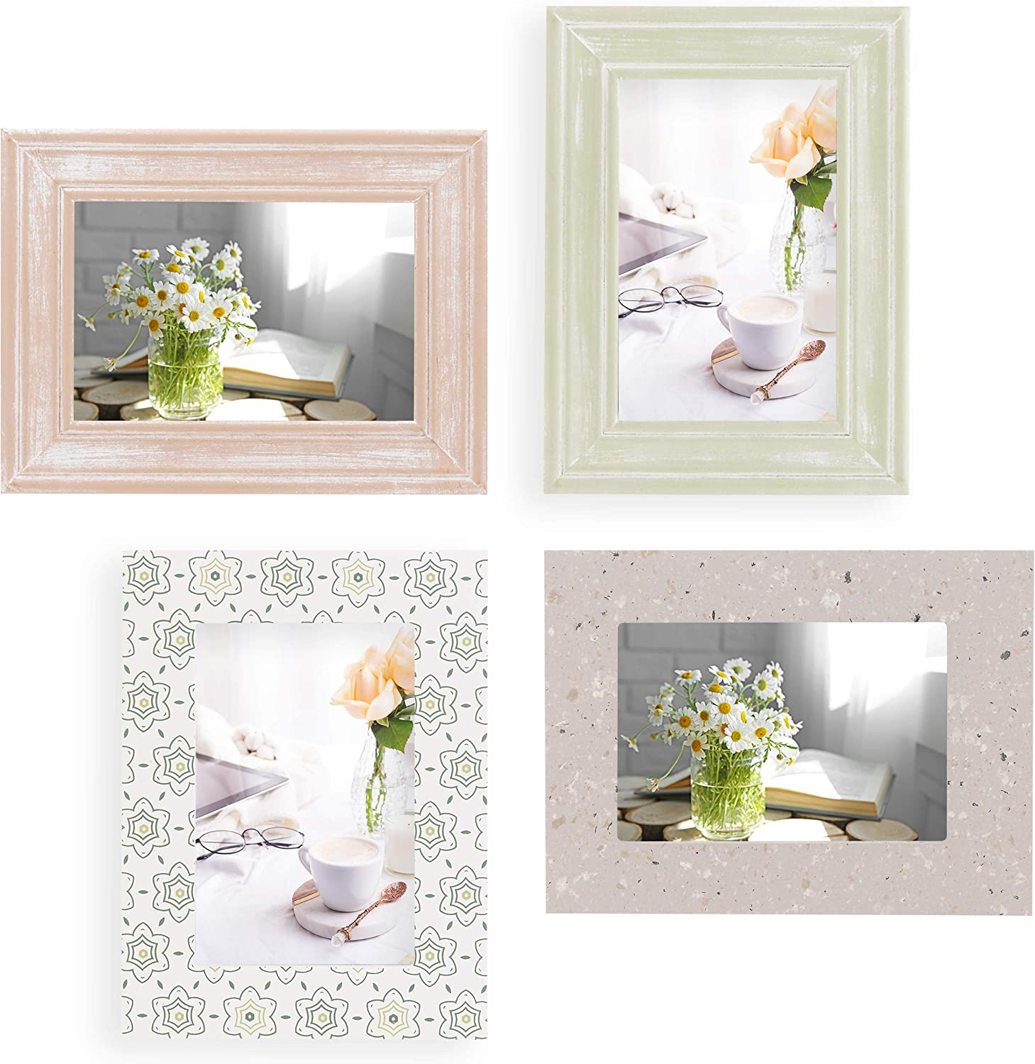 Topics on TV 4x6 Picture Frames Frame Set of 4 For Wood - Austin Mall T Wall Collage