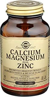 Solgar Calcium Magnesium Plus Zinc, 100 Tablets - Promotes Healthy Bones and Teeth - Supports Nerve & Muscle Function - No...