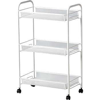 IKEA(イケア) HORNAVAN ワゴン ホワイト