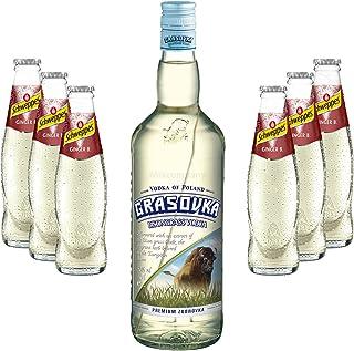 Moscow Mule Set - Grasovka Vodka 1L 40% Vol  6x Schweppes Ginger Beer 200ml - Inkl. Pfand MEHRWEG