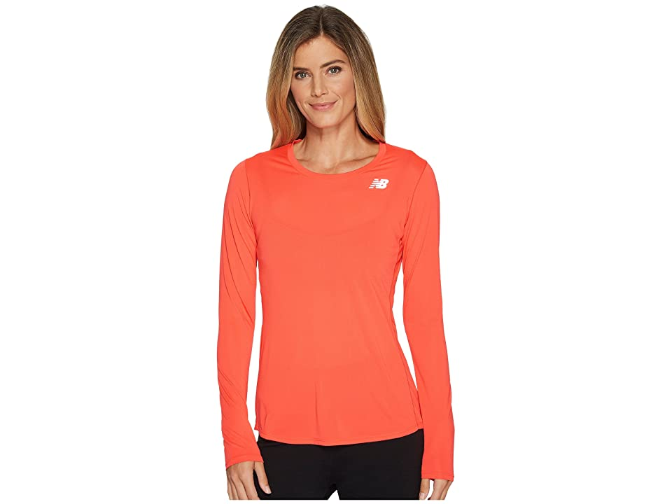 New Balance Accelerate Long Sleeve (Energy Red) Women