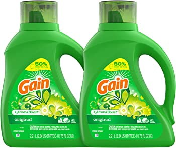 2-Count Gain Liquid Laundry Detergent 75 fl oz Original Scent