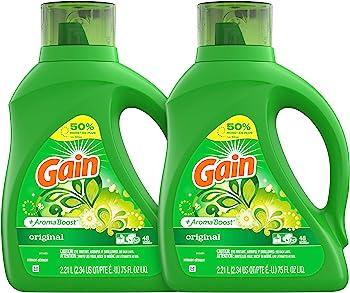 6-Count Gain Liquid Laundry Detergent 75 fl oz Original Scent