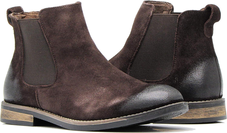 BL01 [正規販売店] 人気ブランド多数対象 Men's Chelsea Boots Dress Fashion Slip On Suede Ank Leather