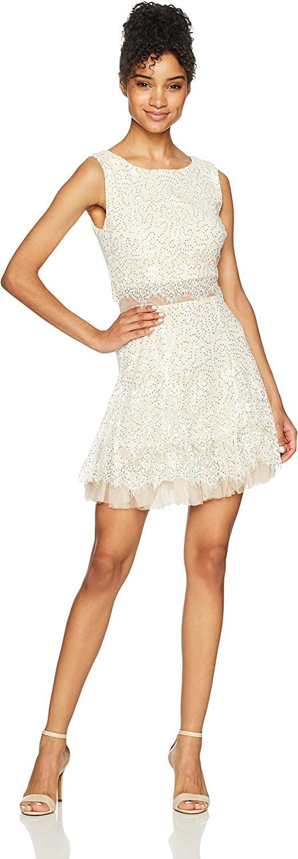 Bee Darlin Womens Sleeveless Scoop Neck Popover Dress Dress