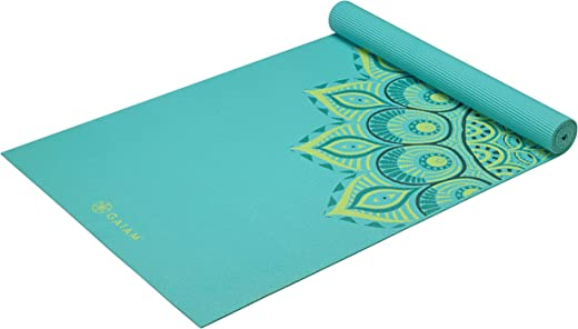 Gaiam Yoga Mat – Premium 6mm Print Extra Thick Non Slip Exercise & Fitness Mat for All Types of Yoga, Pilates & Floor Workouts (68″L x 24″W x 6mm…
