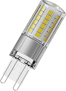 OSRAM LED Star PIN G9 / LED lamp: G9, 4.80 W, 48 W Replacement for, Clear, Warm White, 2700 K, / Pack of 9