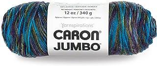 Caron Jumbo Ombre Yarn, 12 oz, Peacock Variegate, 1 Ball