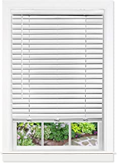 "Achim Home Furnishings Cordless GII Luna 2"" Vinyl Venetian Blind, 23"" x 64"", White"
