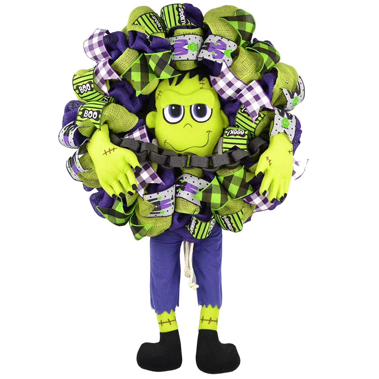 Frankenstein Front Door Wreaths Halloween Decorations Burlap Free shipping anywhere in the nation Ranking TOP15