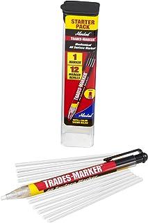 (1 Holder, 12 White) - Markal 96130 Trades Marker (1 Holder, 12 Refills), White