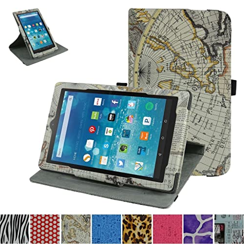 5705141d63c3 Mama Mouth Fire HD 8 6th Generation 2016 Rotating Case