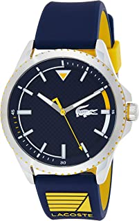Lacoste Mens Quartz Watch, Analog Display and Silicone Strap 2011027
